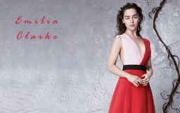 Emilia Clarke in Red Wallpaper