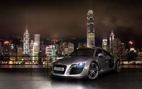 Grey Audi R8 Wallpaper