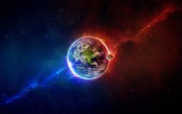 Hot and Cold Earth Wallpaper